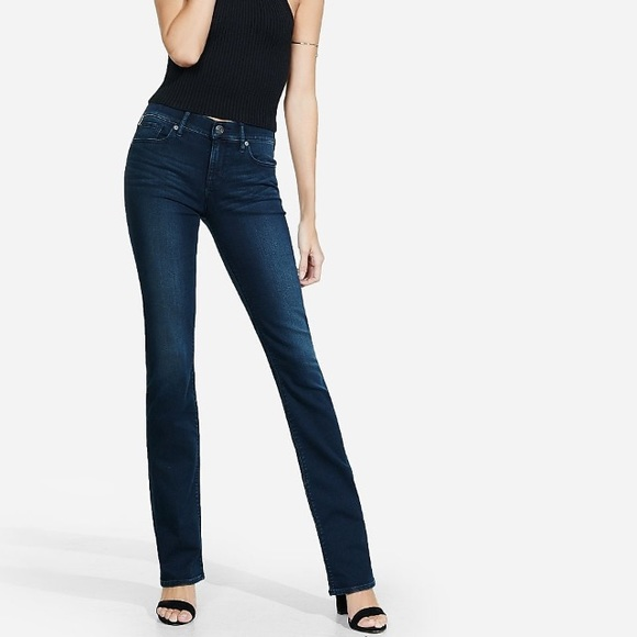 Express Denim - Express Low Rise Barely Boot Jeans Size 4R